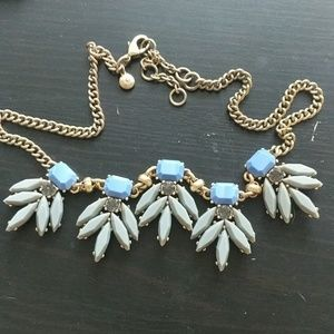 JCrew blue necklace w/ gold chain